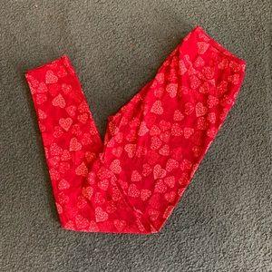 LuLaRoe heart leggings